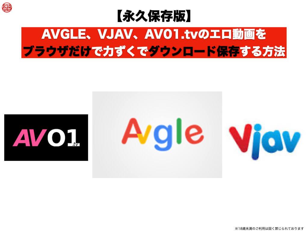 AVGLE,VJAV,AV01.tvのエロ動画をブラウザだけで力ずくでダウンロード保存する方法【永久保存版】